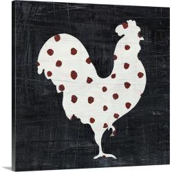 Large Solid-Faced Canvas Print Wall Art Print 20 x 20 entitled Modern Americana Farm III