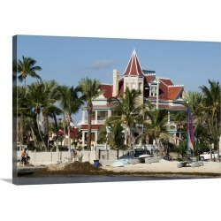 Large Gallery-Wrapped Canvas Wall Art Print 24 x 16 entitled Southernmost House  Hotel and Museum, Key West, Florida