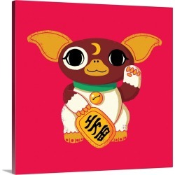 Large Solid-Faced Canvas Print Wall Art Print 20 x 20 entitled Lucky Mogwai found on Bargain Bro Philippines from Great Big Canvas for $144.99