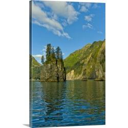 Large Gallery-Wrapped Canvas Wall Art Print 20 x 30 entitled Pacific Northwest, Alaska, Kenai Fjords National Park, Fantas...