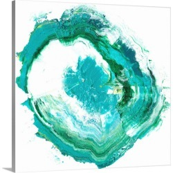 Large Solid-Faced Canvas Print Wall Art Print 20 x 20 entitled Geode Abstract II