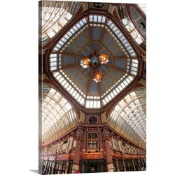 Large Solid-Faced Canvas Print Wall Art Print 20 x 30 entitled Leadenhall Market, City of London, London, England