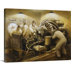 Large Gallery-Wrapped Canvas Wall Art Print 24 x 18 entitled Frank Whittle's early development of the jet engine found on Bargain Bro India from Great Big Canvas - Dynamic for $234.99