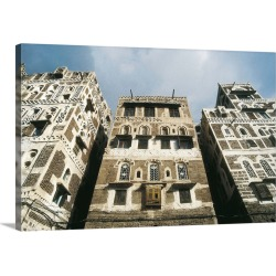 Large Gallery-Wrapped Canvas Wall Art Print 24 x 16 entitled Yemeni adobe architecture found on Bargain Bro India from Great Big Canvas - Dynamic for $214.99