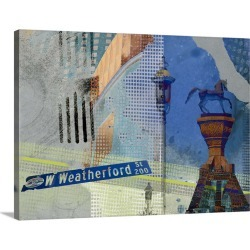Large Solid-Faced Canvas Print Wall Art Print 40 x 30 entitled Weatherford St. Ft. Worth found on Bargain Bro Philippines from Great Big Canvas - Dynamic for $274.99