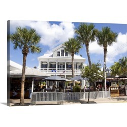 Large Gallery-Wrapped Canvas Wall Art Print 24 x 16 entitled Duval Street, Key West, Florida