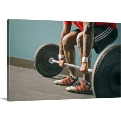 Large Gallery-Wrapped Canvas Wall Art Print 24 x 16 entitled Man working out the the gym found on Bargain Bro India from Great Big Canvas - Dynamic for $214.99