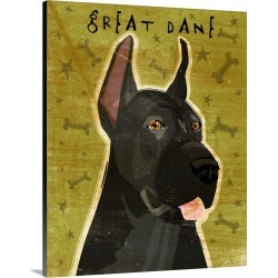 Large Gallery-Wrapped Canvas Wall Art Print 16 x 20 entitled Great Dane (Black)