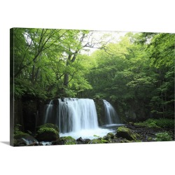 Large Gallery-Wrapped Canvas Wall Art Print 30 x 20 entitled Choshi Otaki Waterfalls, Japan found on Bargain Bro Philippines from Great Big Canvas - Dynamic for $209.99