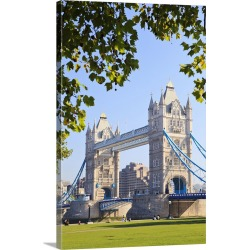 Large Solid-Faced Canvas Print Wall Art Print 20 x 30 entitled UK, England, Great Britain, Thames, London, Tower Bridge