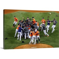 Large Solid-Faced Canvas Print Wall Art Print 30 x 20 entitled World Series - Houston Astros vs. Los Angeles Dodgers - Gam... found on Bargain Bro India from Great Big Canvas - Dynamic for $179.99