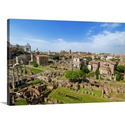 Large Solid-Faced Canvas Print Wall Art Print 30 x 20 entitled Italy, Rome, Roman Forum, Mediterranean area, Roma district