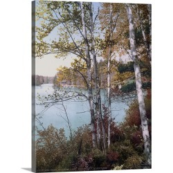 Large Gallery-Wrapped Canvas Wall Art Print 18 x 24 entitled The Inlet Spitfire Lake Adirondack Mountains found on Bargain Bro India from Great Big Canvas - Dynamic for $184.99