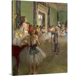 Large Solid-Faced Canvas Print Wall Art Print 24 x 30 entitled The Dancing Class, c.1873 76