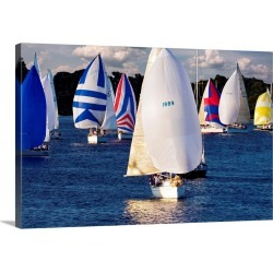 Large Gallery-Wrapped Canvas Wall Art Print 30 x 20 entitled After the Race II found on Bargain Bro Philippines from Great Big Canvas - Dynamic for $209.99