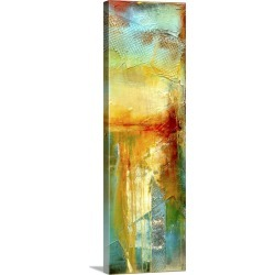 Large Solid-Faced Canvas Print Wall Art Print 12 x 36 entitled Urban Decay III