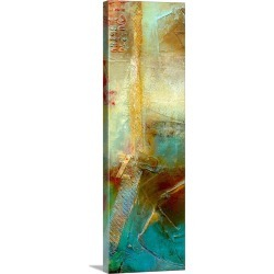 Large Solid-Faced Canvas Print Wall Art Print 12 x 36 entitled Urban Decay I