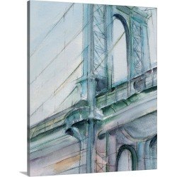Large Gallery-Wrapped Canvas Wall Art Print 16 x 20 entitled Watercolor Bridge Study I found on Bargain Bro India from Great Big Canvas - Dynamic for $179.99