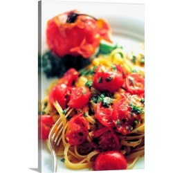 Large Gallery-Wrapped Canvas Wall Art Print 16 x 24 entitled Food, Spaghetti with fresh tomato sauce found on Bargain Bro India from Great Big Canvas - Dynamic for $214.99