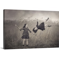 Large Solid-Faced Canvas Print Wall Art Print 30 x 20 entitled Windy Fairy Tales