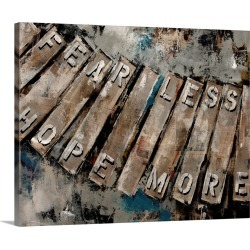 Large Gallery-Wrapped Canvas Wall Art Print 20 x 16 entitled Key Words I