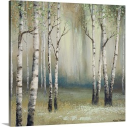 Large Solid-Faced Canvas Print Wall Art Print 20 x 20 entitled Late September Birch I