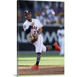 Large Solid-Faced Canvas Print Wall Art Print 20 x 30 entitled American League All-Star Jose Altuve of the Houston Astros ...