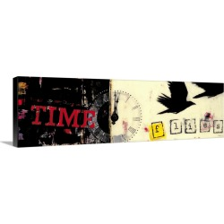 Large Gallery-Wrapped Canvas Wall Art Print 36 x 11 entitled Time Flies found on Bargain Bro India from Great Big Canvas - Dynamic for $254.99