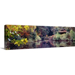 Large Gallery-Wrapped Canvas Wall Art Print 30 x 10 entitled Japanese Garden in autumn, Tatton Park, Cheshire, England found on Bargain Bro India from Great Big Canvas - Dynamic for $209.99