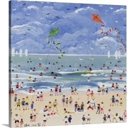 Large Solid-Faced Canvas Print Wall Art Print 20 x 20 entitled A Cornish Beach