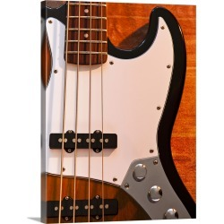 Large Gallery-Wrapped Canvas Wall Art Print 23 x 30 entitled Close up of bass guitar