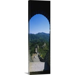 Large Solid-Faced Canvas Print Wall Art Print 16 x 48 entitled High angle view of the Great Wall of China, Beijing, China
