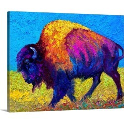 Large Solid-Faced Canvas Print Wall Art Print 45 x 36 entitled Prairie Dusk found on Bargain Bro Philippines from Great Big Canvas for $424.99