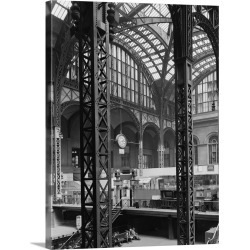 Large Gallery-Wrapped Canvas Wall Art Print 23 x 30 entitled Interior view of Penn Station in New York City, 1962