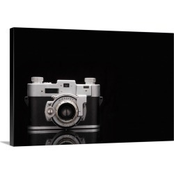 Large Gallery-Wrapped Canvas Wall Art Print 30 x 20 entitled Studio shot of vintage camera