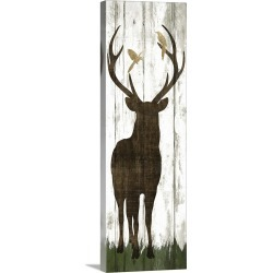 Large Solid-Faced Canvas Print Wall Art Print 16 x 48 entitled Weathered Woodland II