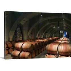 Large Gallery-Wrapped Canvas Wall Art Print 24 x 16 entitled Cave barrel cellar of Mission Hill Family Estate Winery in Ke... found on Bargain Bro India from Great Big Canvas - Dynamic for $214.99