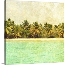 Large Solid-Faced Canvas Print Wall Art Print 20 x 20 entitled Dominican Republic I