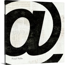 Large Solid-Faced Canvas Print Wall Art Print 20 x 20 entitled Punctuated Black Square V