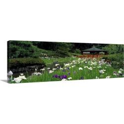 Large Solid-Faced Canvas Print Wall Art Print 48 x 16 entitled Ishiyama-dera Ohtsu Shiga Japan