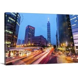 Large Gallery-Wrapped Canvas Wall Art Print 24 x 16 entitled Rush Hour, Taiwan found on Bargain Bro India from Great Big Canvas - Dynamic for $214.99