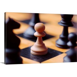 Large Solid-Faced Canvas Print Wall Art Print 30 x 20 entitled Chess Pieces On Chessboard found on Bargain Bro India from Great Big Canvas - Dynamic for $169.99