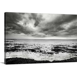 Large Gallery-Wrapped Canvas Wall Art Print 24 x 16 entitled A shore line with surf