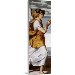 Large Solid-Faced Canvas Print Wall Art Print 12 x 36 entitled Angel Facing Right