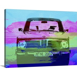 Large Gallery-Wrapped Canvas Wall Art Print 24 x 18 entitled Bmw 2002 Front Watercolor I found on Bargain Bro India from Great Big Canvas - Dynamic for $234.99