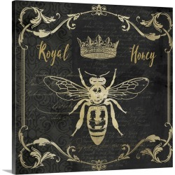 Large Solid-Faced Canvas Print Wall Art Print 20 x 20 entitled Royal Honey Bee I