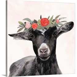 Large Gallery-Wrapped Canvas Wall Art Print 20 x 20 entitled Garden Goat III found on Bargain Bro India from Great Big Canvas - Dynamic for $159.99
