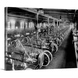 Large Gallery-Wrapped Canvas Wall Art Print 20 x 16 entitled Model A Bodies Awaiting Assembly found on Bargain Bro India from Great Big Canvas - Dynamic for $189.99