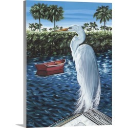 Large Solid-Faced Canvas Print Wall Art Print 30 x 40 entitled Peaceful Heron II found on Bargain Bro Philippines from Great Big Canvas - Dynamic for $274.99