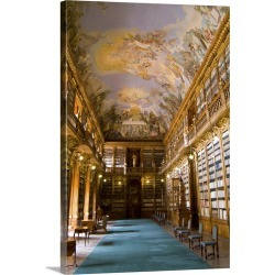 Large Gallery-Wrapped Canvas Wall Art Print 16 x 24 entitled Historic Strahov Library with rare historical books in Prague... found on Bargain Bro India from Great Big Canvas - Dynamic for $214.99